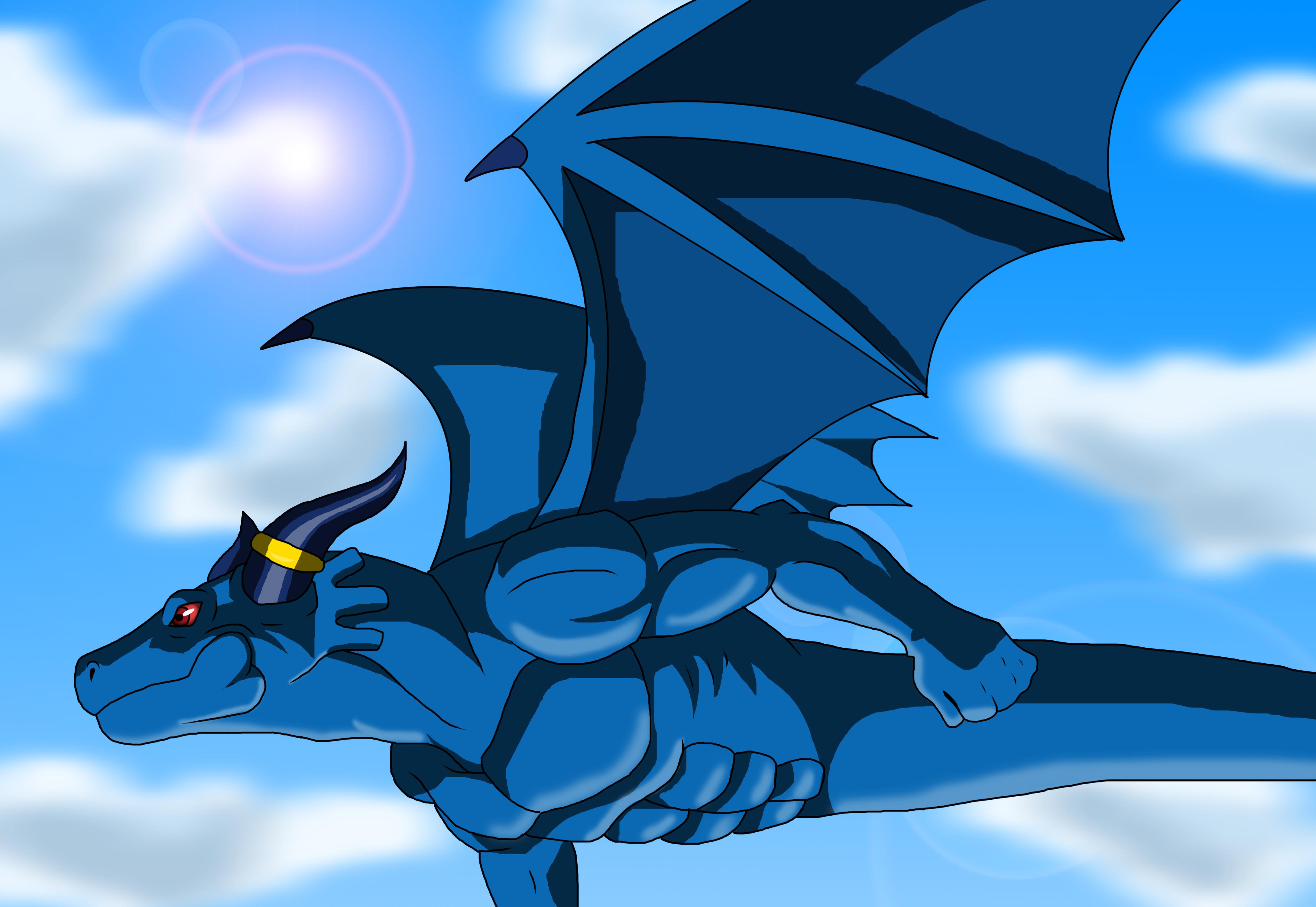 Blue Dragon flight by Kyuubi83256 on DeviantArt