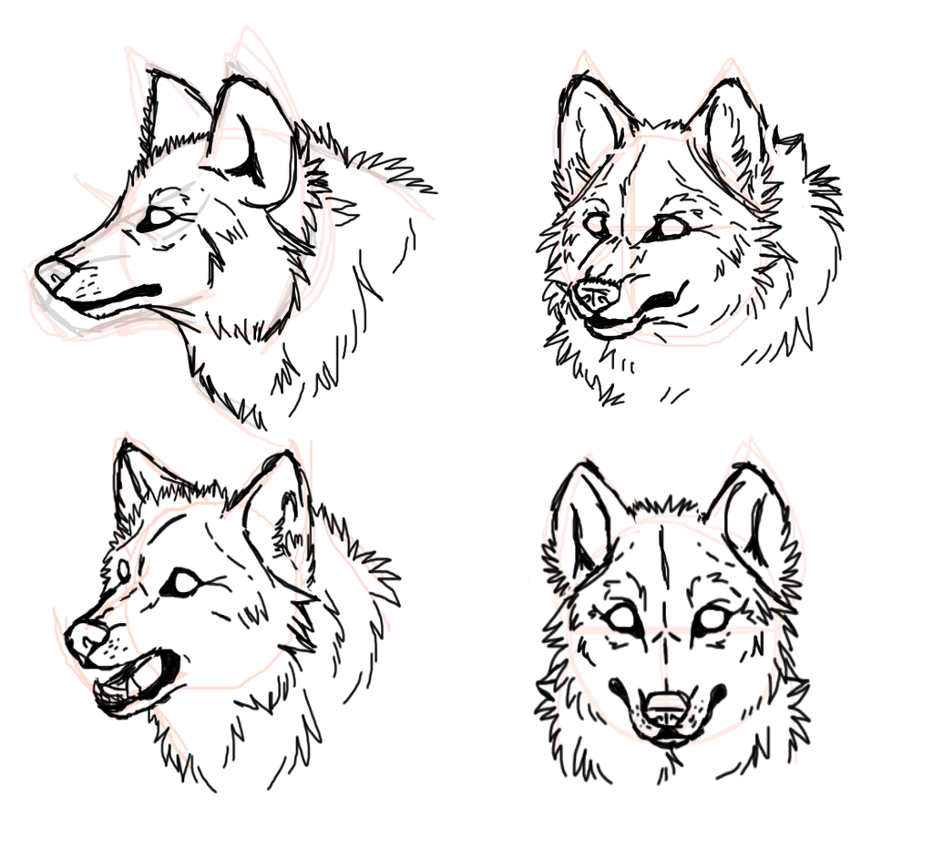 m easy wolf head coloring pages