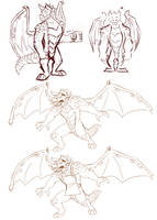 Spyro character concepts