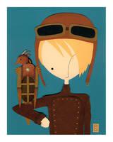 Aviator and his Clockwork Bird by renton1313