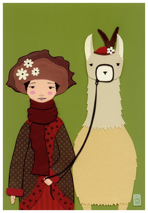 Emma and Her Llama... by renton1313