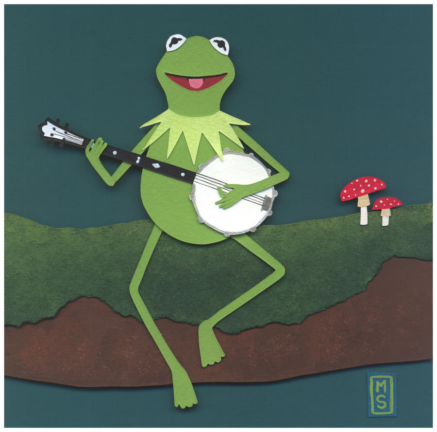Kermit the Frog with banjo #illustration #muppets