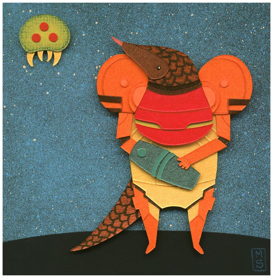 A Pangolin in Chozo Armor by renton1313