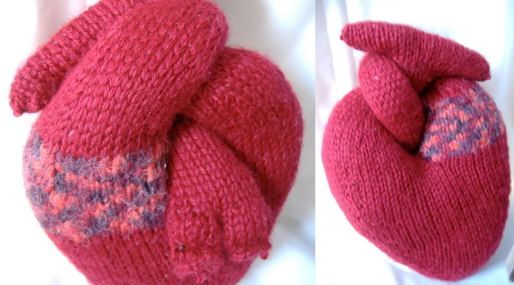 Plush Heart Knitting Pattern : Knit and Stuffed Heart by Mystitat on deviantART