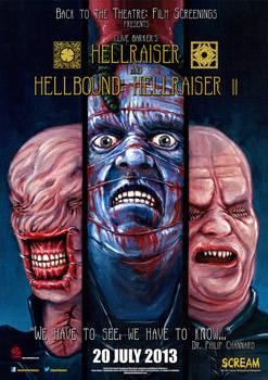 Hellraiser and Hellbound Screening Poster UK