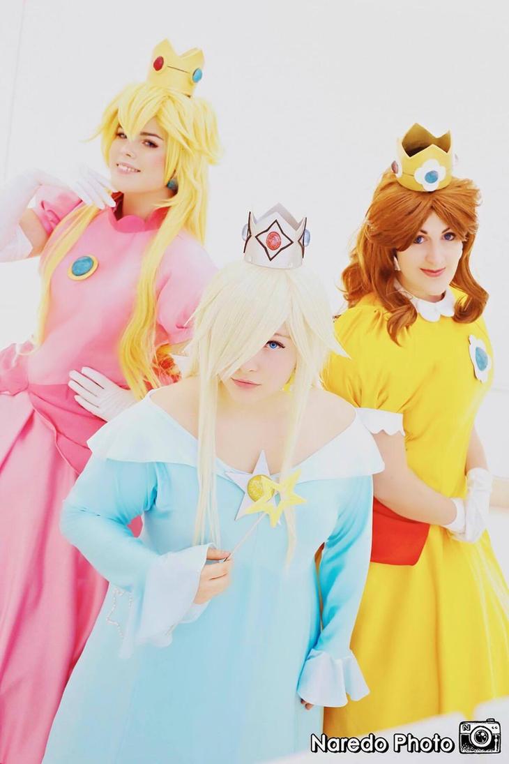 Peach, Rosalina and Daisy by rocknroler