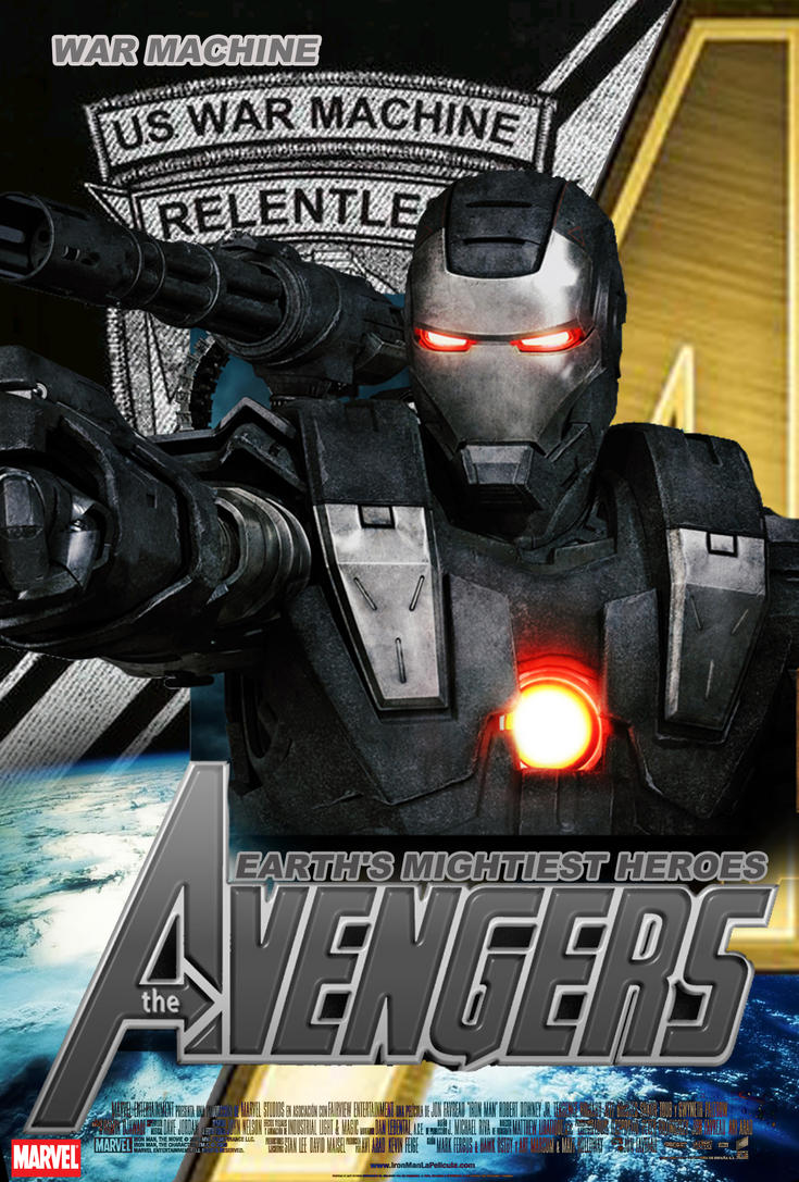 Poster War Machine Avengers by Alex4everdn on DeviantArt