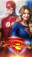 The Flash \ Supergirl - Crossover Poster
