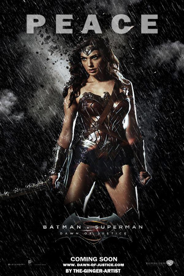 Dawn of justice Poster (Wonder Woman)