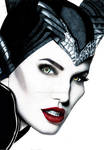 Angelina Jolie Maleficent - Colored