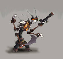 robot pirat by xr2z9