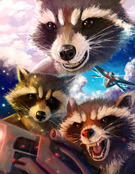 Rocket Raccoon montage by SoihtuSS