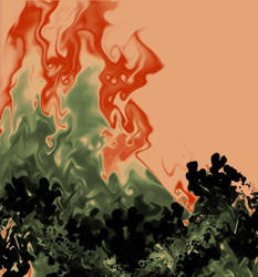 Fire Mountain by foolishworld