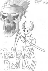 Radiskull and DevilDoll by Higginchicken