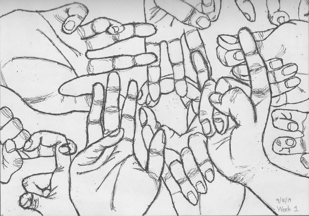 Contour Drawing: Hands by DynamicEagle on DeviantArt