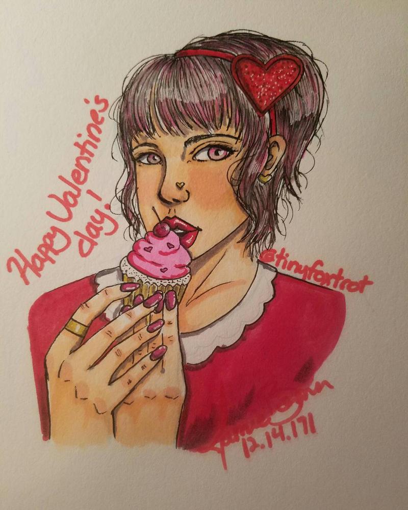 Valentines day art by TinyfoxTrot