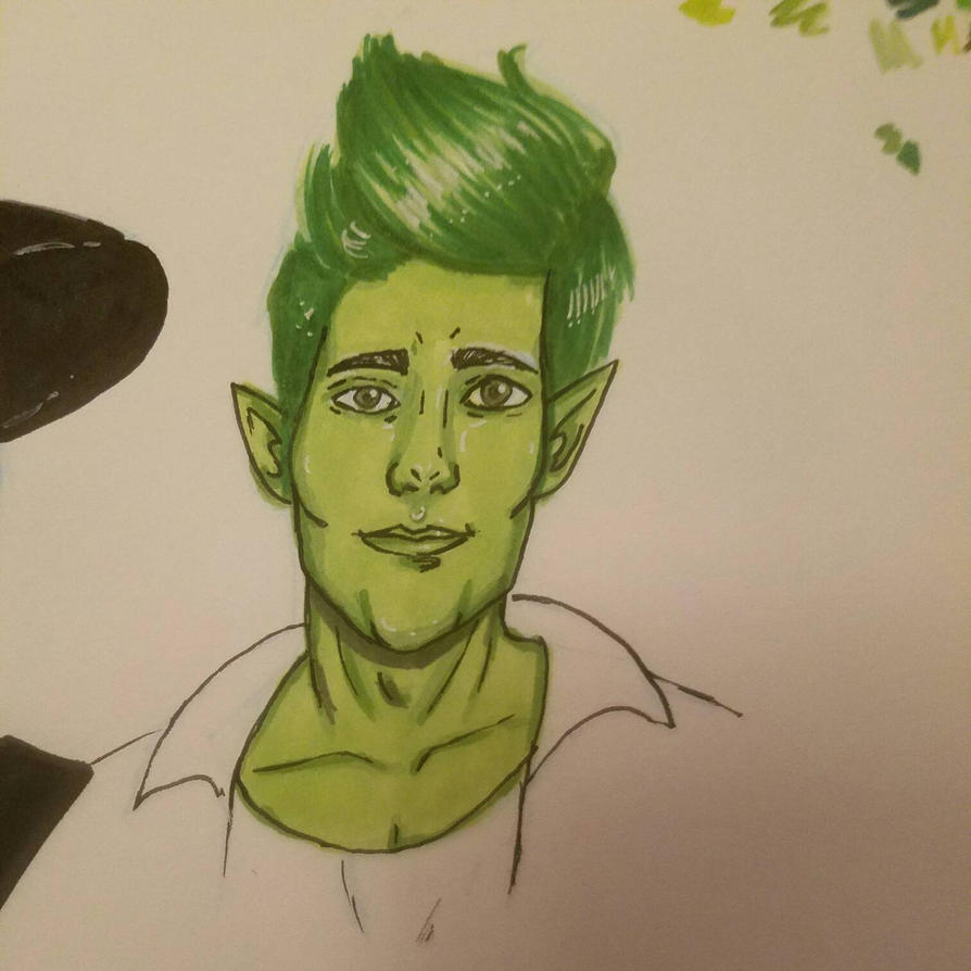 too handsome beast boy by TinyfoxTrot