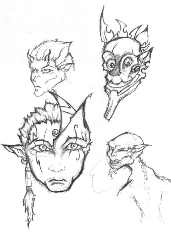 Mask doodles by eniosus