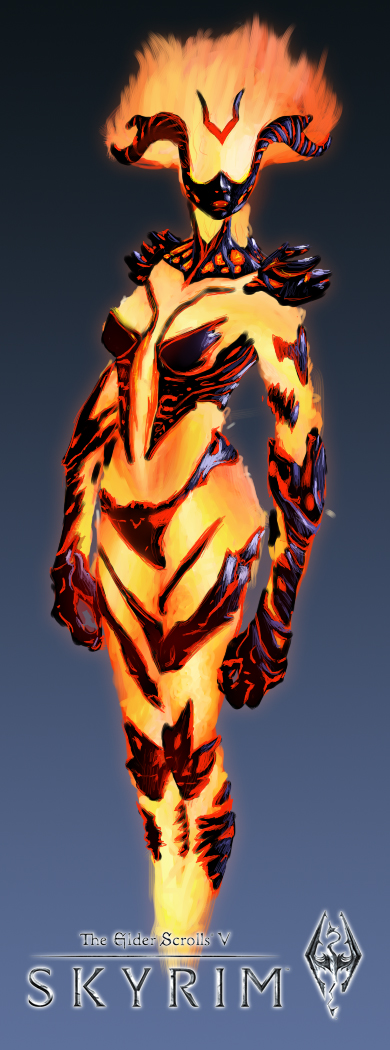 -The Elder Scrolls V: Skyrim- Fire Atronach by DarkxxCrow