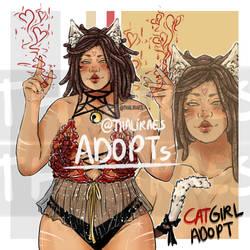[OPEN !] Adoptable Cat Girl Love !