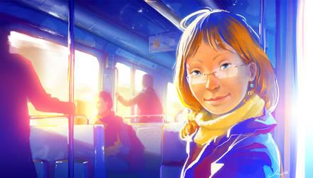 Metro direction Etoile by Gandalfleblond