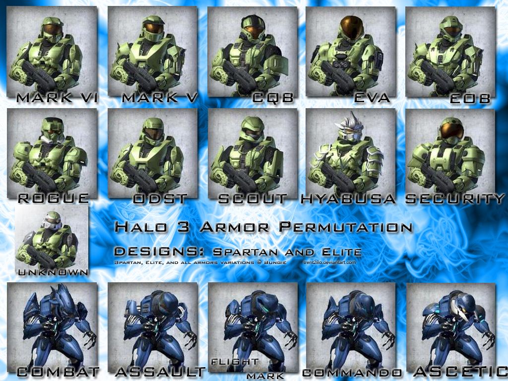 Halo 3 Armor Permutations by trent28o on DeviantArt