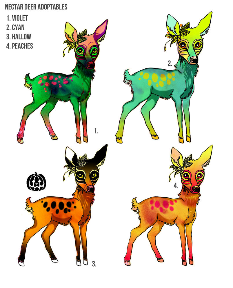 Nectar Deer Adoptables by ClaraBacou