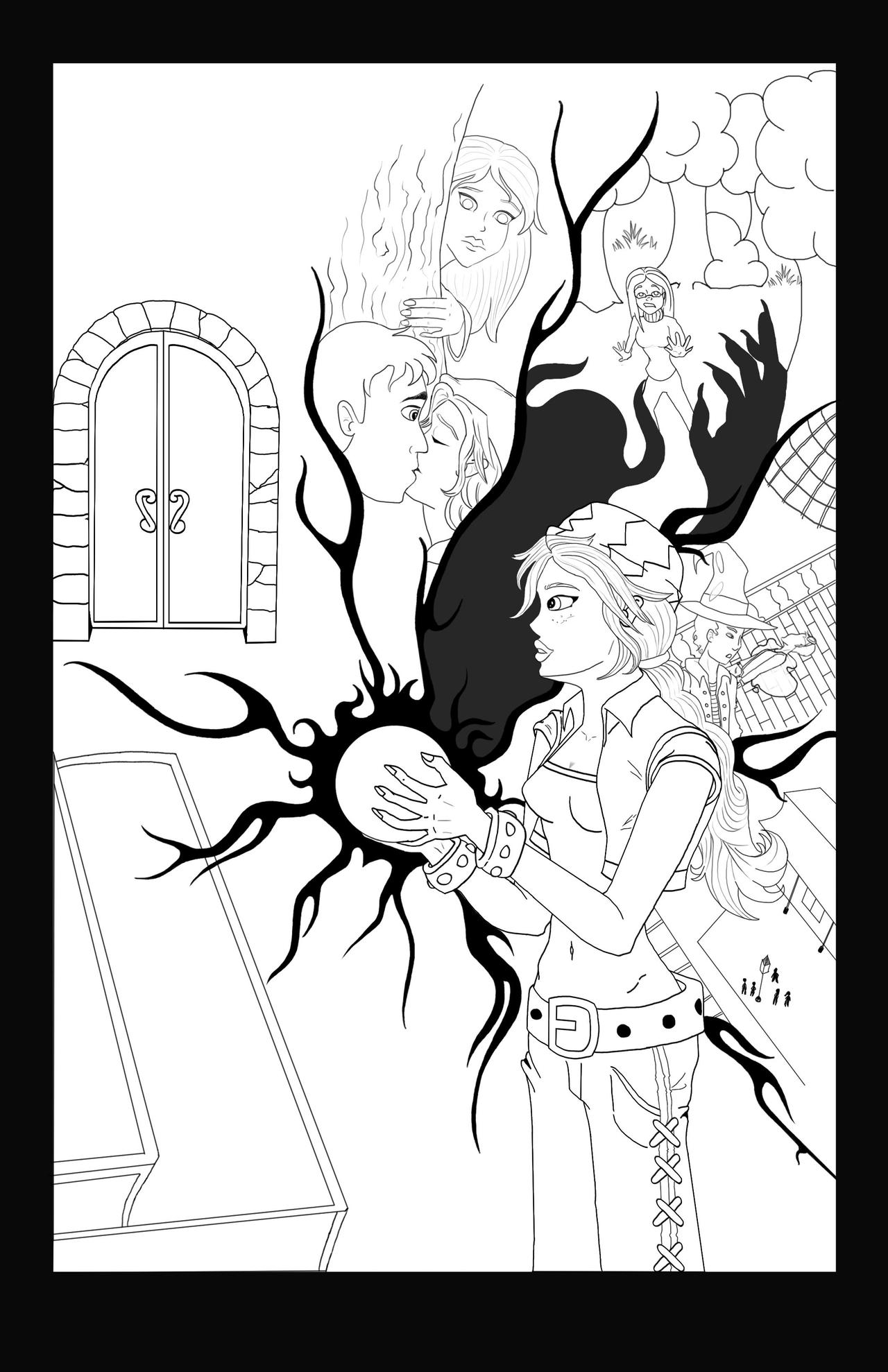 The Lost Kids comic cover lineart by Comical1
