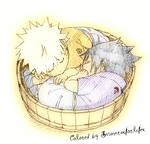 Sasuke and Naruto sleeping