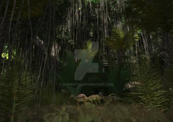 Compsognathus Trio
