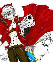 Dante n Vergil by KTheUnknownArtist