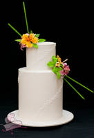 Tropical Wedding Cake by Igasm