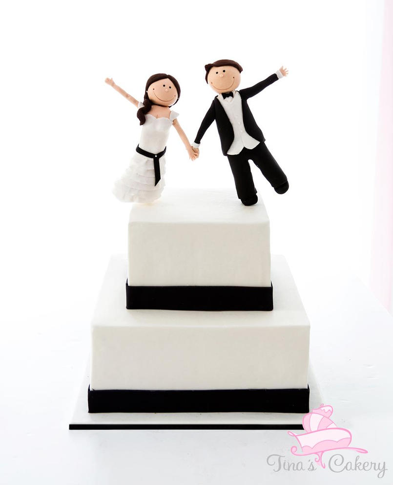 Bride and Groom Wedding cake. by Igasm