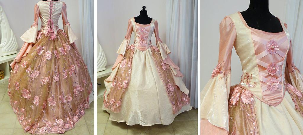 Original Pink Princess Gown by glimmerwood on DeviantArt