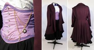 Genderbent 11th Doctor Purple Cosplay Costume