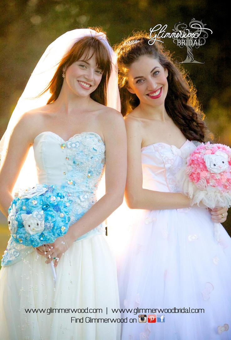 hello kitty wedding gowns