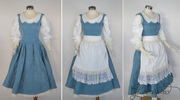 Belle Blue Dress Provential Town Cosplay