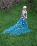 Queen Elsa Frozen Fever Cosplay (Spring Dress)