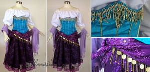Esmeralda Cosplay Dress Costume