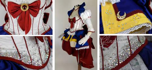 NoFlutter Sailor Moon Cosplay Dress Detail Shots by glimmerwood