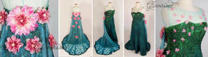 Queen Elsa Frozen Fever Cosplay Gown(Spring Dress)