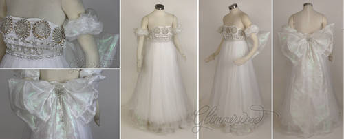 Silver Princess Serenity Cosplay Costume Gown