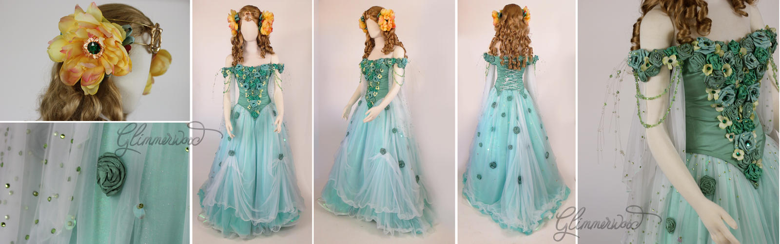 Ozma of Oz (Return to Oz) Cosplay Costume Gown by glimmerwood