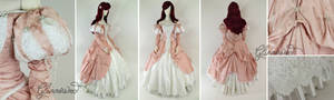 Little Mermaid Pink Ball Gown Cosplay Dress