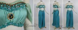 Jasmine Cosplay Costume in Mint