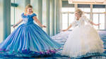 Cinderella and Fairy Godmother 2015 Cosplay at D23