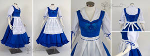 Town Provencial Belle Blue Dress Cosplay Dress