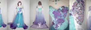 Aqua Fairy Elf Gown