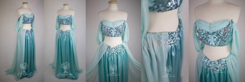 Jasmine Cosplay Costume Inspired by Elie Saab