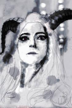 1 of 3 versions of MariahMallad (Momokun) portrait